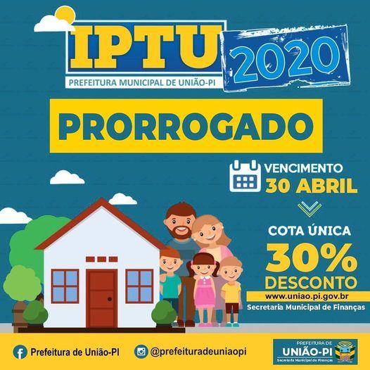 PRORROGADO IPTU !!!