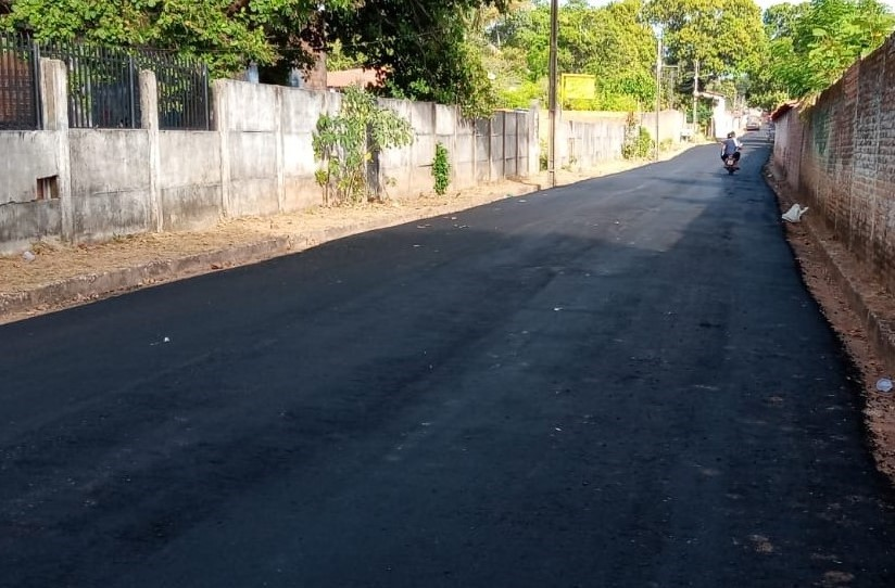 Concluído o asfaltamento da Rua Sargento Protásio – Rua do Fio